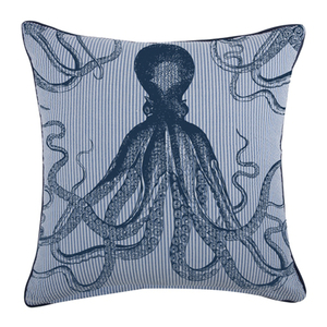 Octopus Seersucker Pillow