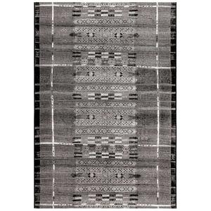 """Liora Manne Marina Tribal Stripe Indoor/Outdoor Rug Silver 23""""X7'6"""""""