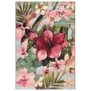 "Liora Manne Marina Tropical Floral Indoor/Outdoor Rug Multi 23""X7'6"""