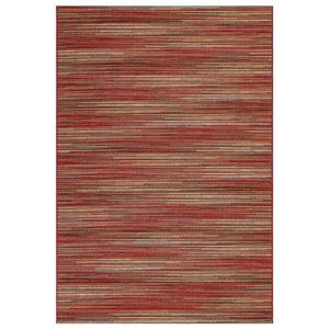 """Liora Manne Marina Stripes Indoor/Outdoor Rug Saffron 39""""X59"""""""