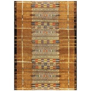 "Liora Manne Marina Tribal Stripe Indoor/Outdoor Rug Gold 39""X59"""