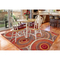 """Liora Manne Marina Circles Indoor/Outdoor Rug Saffron 4'10""""X7'6"""""""
