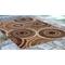 "Liora Manne Marina Circles Indoor/Outdoor Rug Brown 4'10""X7'6"""