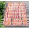 """Liora Manne Marina Reflection Indoor/Outdoor Rug Blush 4'10""""X7'6"""""""