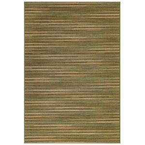 "Liora Manne Marina Stripes Indoor/Outdoor Rug Green 4'10""X7'6"""