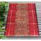 "Liora Manne Marina Tribal Stripe Indoor/Outdoor Rug Red 4'10""X7'6"""