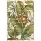 "Liora Manne Marina Tropical Leaf Indoor/Outdoor Rug Cream 4'10""X7'6"""