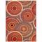 """Liora Manne Marina Circles Indoor/Outdoor Rug Saffron 7'10""""X9'10"""""""