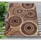 "Liora Manne Marina Circles Indoor/Outdoor Rug Brown 7'10""X9'10"""