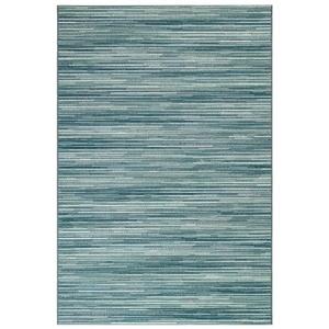 "Liora Manne Marina Stripes Indoor/Outdoor Rug Aqua 7'10""X9'10"""