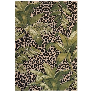 "Liora Manne Marina Safari Indoor/Outdoor Rug Green 7'10""X9'10"""