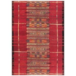 "Liora Manne Marina Tribal Stripe Indoor/Outdoor Rug Red 7'10""X9'10"""