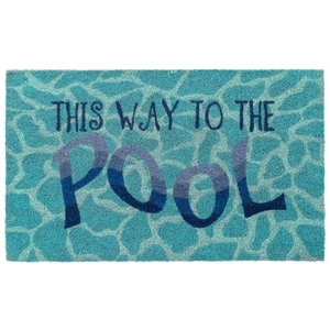 """Liora Manne Natura This Way To The Pool Outdoor Mat Water 18""""X30"""""""
