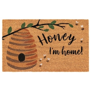 "Liora Manne Natura Honey I'M Home Outdoor Mat Natural 18""X30"""