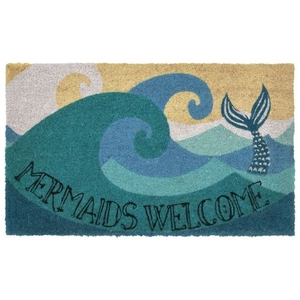 "Liora Manne Natura Mermaids Welcome Outdoor Mat Ocean 24""X36"""