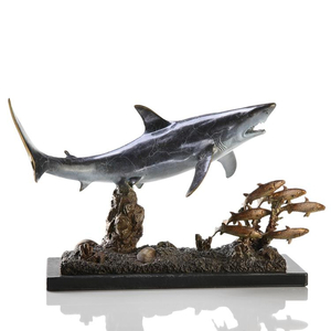 Shark with Prey Sculpture