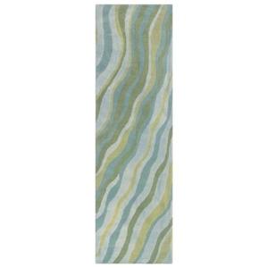 """Liora Manne Piazza Waves Indoor Rug Sea Breeze 27""""X8'"""