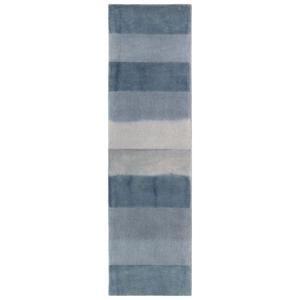 """Liora Manne Piazza Textured Stripe Indoor Rug Navy 27""""X8'"""
