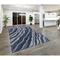 "Liora Manne Piazza Waves Indoor Rug Navy 5'X7'6"""