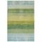 "Liora Manne Piazza Textured Stripe Indoor Rug Sea Breeze 5'X7'6"""
