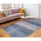 """Liora Manne Piazza Textured Stripe Indoor Rug Navy 5'X7'6"""""""