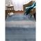 """Liora Manne Piazza Textured Stripe Indoor Rug Navy 7'6""""X9'6"""""""