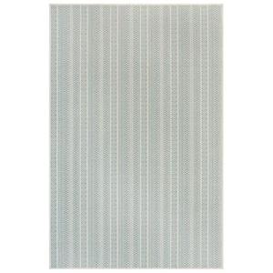 "Liora Manne Plymouth Texture Stripe Indoor/Outdoor Rug Aqua 23""X7'6"""