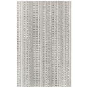 "Liora Manne Plymouth Texture Stripe Indoor/Outdoor Rug Silver 23""X7'6"""