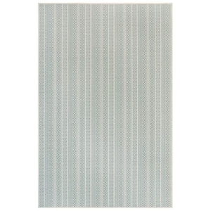 "Liora Manne Plymouth Texture Stripe Indoor/Outdoor Rug Aqua 39""X59"""