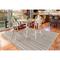 "Liora Manne Plymouth Texture Stripe Indoor/Outdoor Rug Silver 7'10""X9'10"""