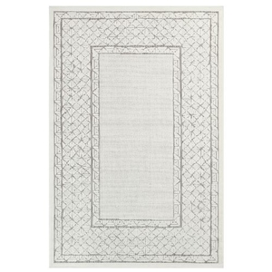 "Liora Manne Rialto Border Indoor/Outdoor Rug Ivory 23""X7'6"""