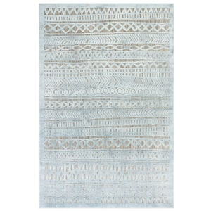 "Liora Manne Rialto Tribal Stripe Indoor/Outdoor Rug Aqua 39""X59"""