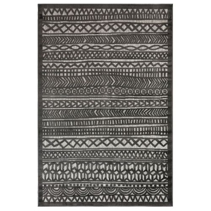 "Liora Manne Rialto Tribal Stripe Indoor/Outdoor Rug Charcoal 39""X59"""