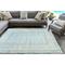 "Liora Manne Rialto Border Indoor/Outdoor Rug Aqua 4'10""X7'6"""