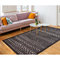 "Liora Manne Rialto Tribal Stripe Indoor/Outdoor Rug Charcoal 7'10""X9'10"""