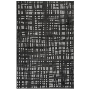 "Liora Manne Rialto Grid Indoor/Outdoor Rug Charcoal 7'10""X9'10"""