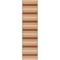 """Liora Manne Riviera Stripe Indoor/Outdoor Rug Red 23""""X7'6"""""""