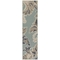 "Liora Manne Riviera Ornamental Leaf Indoor/Outdoor Rug Cool 23""X7'6"""