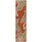 "Liora Manne Riviera Ornamental Leaf Indoor/Outdoor Rug Red 23""X7'6"""