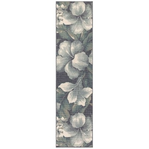 "Liora Manne Riviera Tropical Flower Indoor/Outdoor Rug Navy 23""X7'6"""