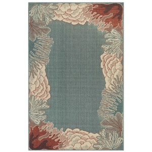 "Liora Manne Riviera Reef Border Indoor/Outdoor Rug Ocean 39""X59"""