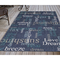 "Liora Manne Riviera Happy Words Indoor/Outdoor Rug Navy 39""X59"""