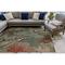 """Liora Manne Riviera Seaturtles Indoor/Outdoor Rug Ocean 4'10""""X7'6"""""""