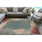"""Liora Manne Riviera Reef Border Indoor/Outdoor Rug Ocean 4'10""""X7'6"""""""