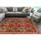 """Liora Manne Riviera Kilim Indoor/Outdoor Rug Red 4'10""""X7'6"""""""