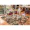 """Liora Manne Riviera Tropical Flower Indoor/Outdoor Rug Cream 4'10""""X7'6"""""""