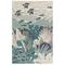 """Liora Manne Riviera Ocean Indoor/Outdoor Rug Teal 4'10""""X7'6"""""""