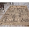 "Liora Manne Riviera Happy Words Indoor/Outdoor Rug Taupe 4'10""X7'6"""