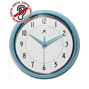 Retro Turquoise Wall Clock