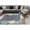 "Liora Manne Riviera Reef Border Indoor/Outdoor Rug Navy 6'6""X9'3"""